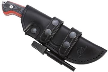 AXARQUIAONE - Premium Qualität - professionell Überlebensmesser, Gürtelmesser, Outdoor/Survival Messer, Jagdmesser, Stahl MOVA-58, Lederscheide + Feuerstahl. Entworfen und Hergestellt in Spanien. -
