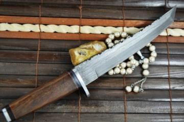 Benutzerdefinierte handgemachte damast Jagdmesser , beide Klinge -