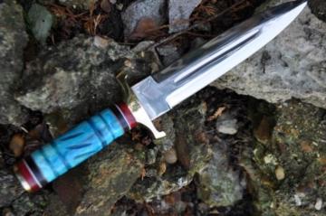 Benutzerdefinierte Handmade Jagdmesser 440c Stahl - Doppelkante Klinge -