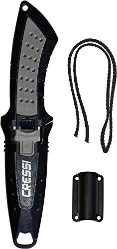 Cressi Tauchermesser Lima, schwarz/grau, 160 mm, RC558000 -