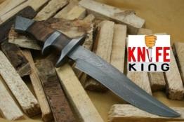 Custom Damast Bowie Messer Jagdmesser Mit Lederscheide -