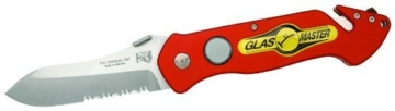 Glasmaster Klappmesser Feuerwehrmesser PRT-II Buckelklinge rot -