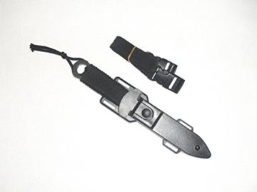 Haller Messer Tauchermesser aus rostfreiem Stahl mit Beinscheide / Holster Beinholster