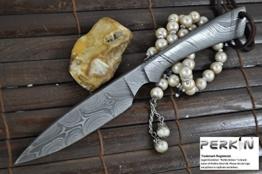 Handgemachte All Damast -Jagd-Messer - Schöne Camping-Messer mit Scheide -