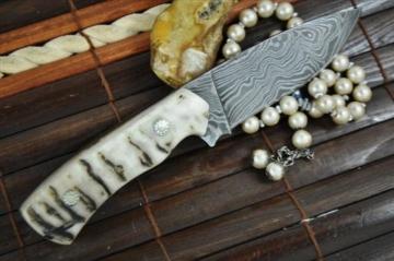 Individuelle Handgemachtes Damast Jagdmesser - schöne bushcraft Messer -