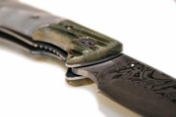 Jagdmesser Messer - Klinge (19,0 cm)aus 67 Lagen Damaszener Damast Stahl - Taschenmesser Einhandmesser (Sammlerstück) - Harz (Resin) Griff EinLagen -