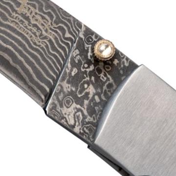 Jagdmesser Messer - Klinge (19,6 cm) aus 67 Lagen Damaszener Damast Stahl - Taschenmesser Einhandmesser (Sammlerstück) - Sapeleholz und Edelstahl Griff EinLagen -