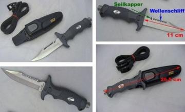 K-10BK Edelstahl Tauchermesser Hammerkopf Stainless Steel -