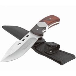 Kompaktes Universal Stahlmesser, Jagdmesser im coolen Design ideal für diverse Outdoor Aktivitäten: Jagd, Angeln, Camping, Survival -