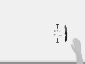 Mares Erwachsene Tauchermesser Force Bat Titanium, 415624 -