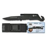 Martinez Albainox Rettungsmesser RUI Taschenmesser Titan beschichtet Taschenlampe Feuerstarter -