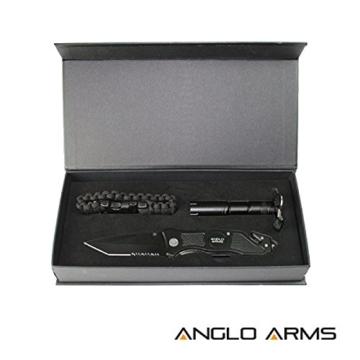 Messer Set Rettungsmesser Taschenlampe Paracordarmband -