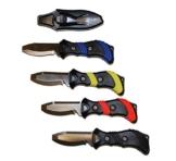 Polaris Jacketmesser Edelstahl Stainless-Steel B.C.Knife Tauchermesser (Gelb) -