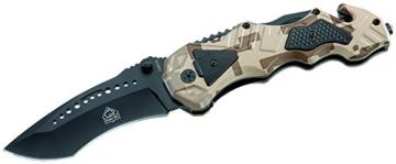 Puma TEC Einhand-Rettungsmesser Glasbrecher Länge geöffnet: 21.5 cm, 309012 -