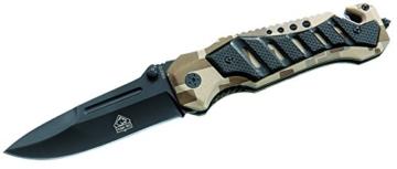 Puma TEC Einhand-Rettungsmesser Schlagdorn Länge geöffnet: 21.0 cm, 306312 -