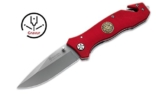 Rettungsmesser Magnum Rescue Feuerwehr INKLUSIVE GRAVUR mit Glasbrecher und Gurtmesser -