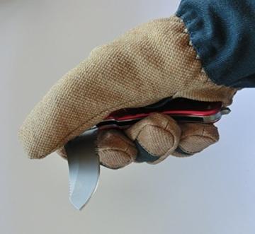 Rettungsmesser rot (Klinge: 8,5 cm/gesamt: 22 cm) -