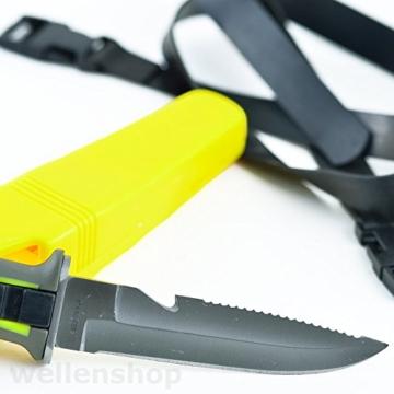 Tauchermesser 115mm Edelstahlklinge + Säge+ Beinholster -