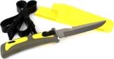 Tauchermesser mit Scheide und Beinbefestigung Gelb 23 cm -