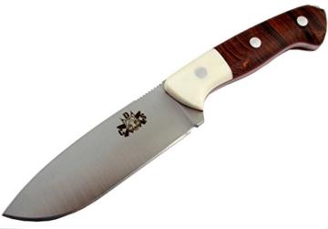 TRAPPER-DUO - Premium Qualität - professionell Überlebensmesser, Gürtelmesser, Outdoor Survival Messer, Jagdmesser, Stahl MOVA-58, Lederscheide + Feuerstahl. Entworfen und Hergestellt in Spanien. -