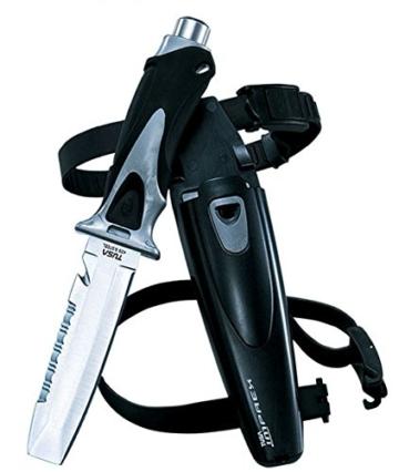 TUSA FK-220 Premium-Tauchermesser Diving Knife mit stumpfer Spitze Tabata (Grau) -