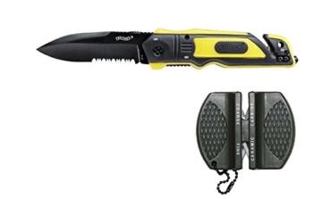 Walther ERK Emergency Rescue Knives yellow mit Messerschärfer und Holster -