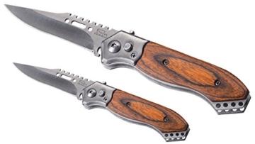 2er Klappmesser Set – 1 Stück großes Messer und 1 Stück Messer klein – Taschenmesser Sportmesser Jagdmesser Sammelmesser Klinge aus rostfreiem Stahl – Stainless Qualität -
