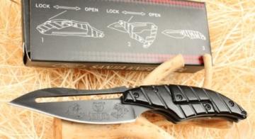 Alien Transformer II Matt Schwarz Klappmesser Jagdmesser Taschenmesser Werkzeug Folding knife -
