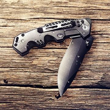 BERGKVIST scharfes Klappmesser outdoor survival Taschenmesser K9 in mattschwarz | kleines Einhand Messer aus Edelstahl perfektes Gürtelmesser für Freizeit Arbeit Wandern Camping und als Geschenk -