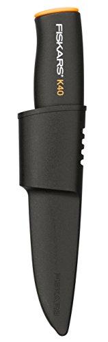 Fiskars Universalmesser K40 mit Schutzhülle, Schwarz -