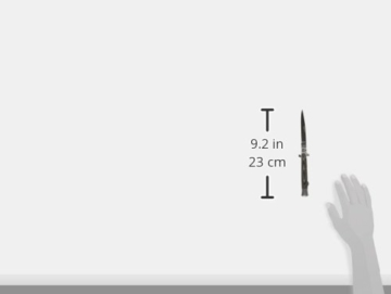 Haller Taschenmesser Stiletto Micarta Messer, Schwarz, One Size -