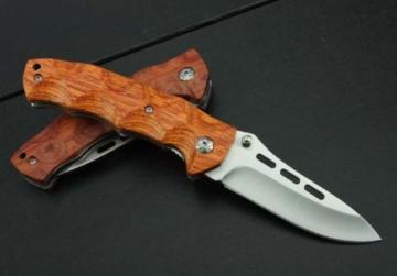 J.C.H. KT35 Rosenholz Holzgriff Klappmesser Jagdmesser Überlebensmesser Taschenmesser Hunting Folding knife -