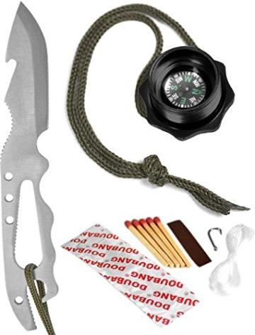 Kampfmesser - Survival Knife Farbe Schwarz -