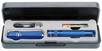 Mag-Lite Messerset Solitaire blau mit 5-tlg. Schweizer Messer blau -
