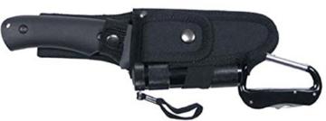 Messerset, mit LED und Nylon-Scheide, schwarz -