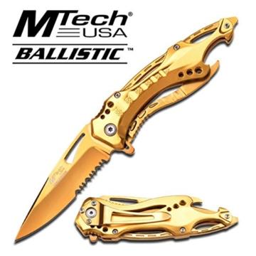 MTech Ballistic Midas Touch Klappmesser / Einhandmesser, Gold, A705GD #MT -