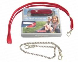 """""""My First Victorinox"""" - Schweizer Kindermesser, transparent rot mit Säge (10054) -"""