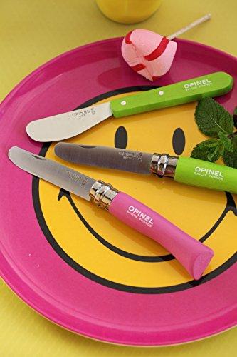 Opinel No.7 Kindermesser, rostfrei, Buchenholz, pink -