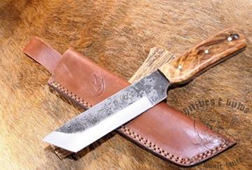 R1/1 no8 Magic-Knife NEW COLLECTION Tanto Carbon Federstahl Bogensport Jagdmesser Messer Gürtelmesser -