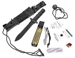 Survival Knife Gürtelmesser mit Überlebensausrüstung -