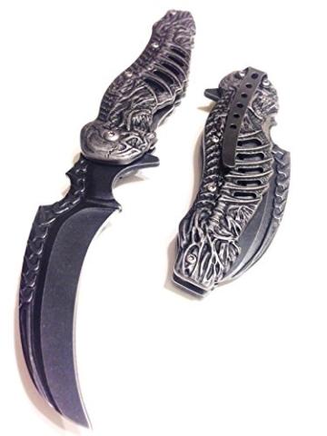 Taschenmesser, Klappmesser, Motiv: Gothik, Skelett, leicht zu öffnen, # 300308-SW -