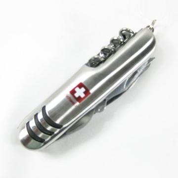 Taschenmesser mit Schweiz Logo 11 Funktionen Schweizer Messer Edelstahl -