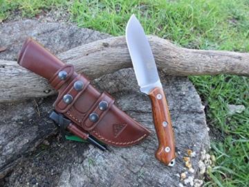 TRAPPER-COCO - Premium Qualität - professionell Überlebensmesser, Gürtelmesser, Outdoor Survival Messer, Jagdmesser, Stahl MOVA-58, Lederscheide + Feuerstahl. Entworfen und Hergestellt in Spanien -