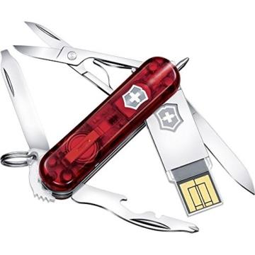 Victorinox Schweizer Taschenmesser mit 64 GB USB-Stick Anzahl Funktionen 11 Midnite Manager 4.6366. -