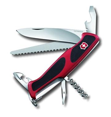 Victorinox Taschenmesser Ranger Grip 55 rot-schwarz, 0.9563.C -
