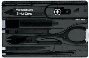 Victorinox Taschenwerkzeug SwissCard Onyx transparent, 0.7133.T3 -