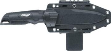 Walther BUK BackUpKnife Back UP Knife + Hardcover Holster + Messerschärfer -